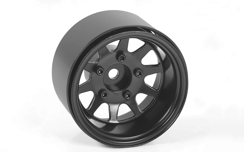 "RC4WD Deep Dish Wagon 1.55"" Stamped Steel Beadlock Wheels (Blac"