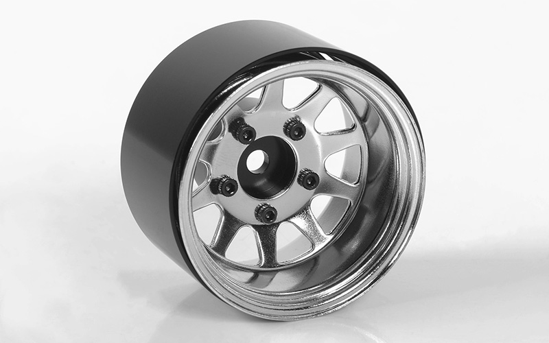 "RC4WD Deep Dish Wagon 1.55"" Stamped Steel Beadlock Wheels (Chro"