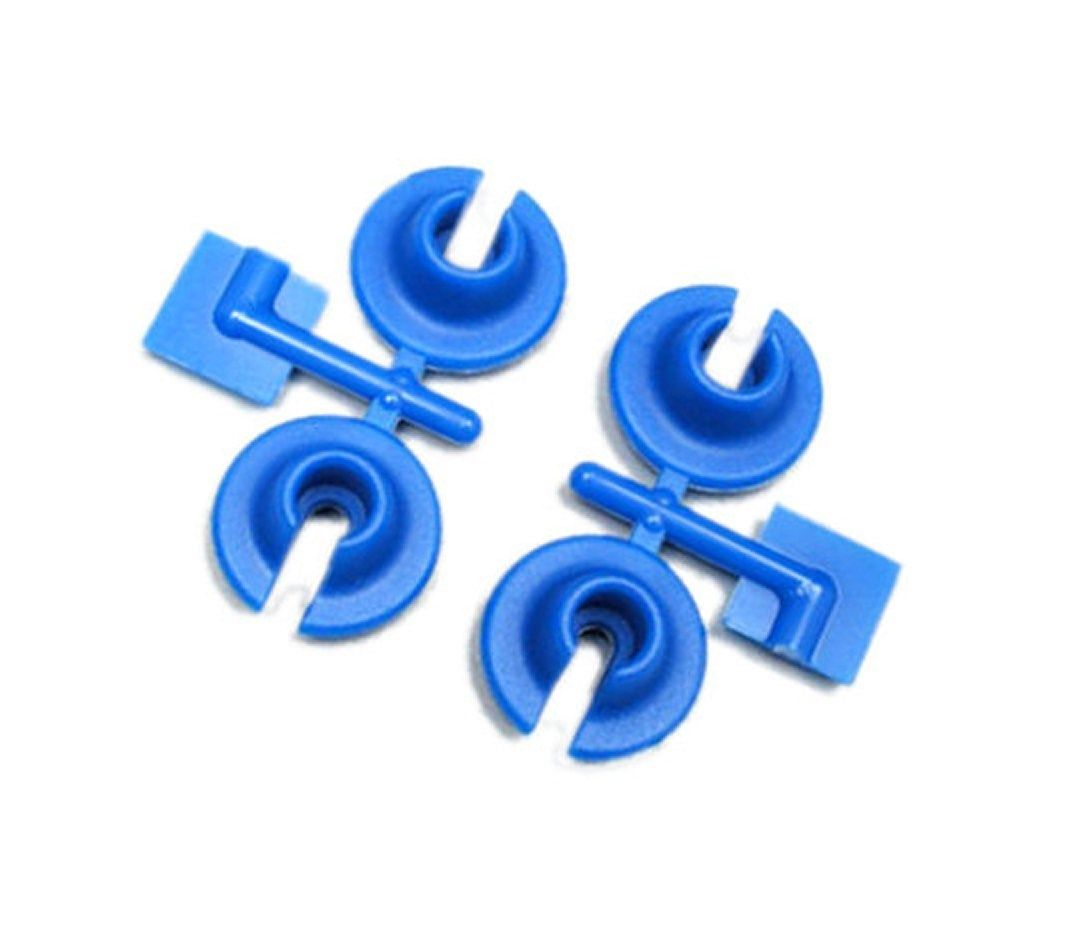 RPM Lower Shock Spring Cups Traxxas, HPI & Losi Shocks - Blue