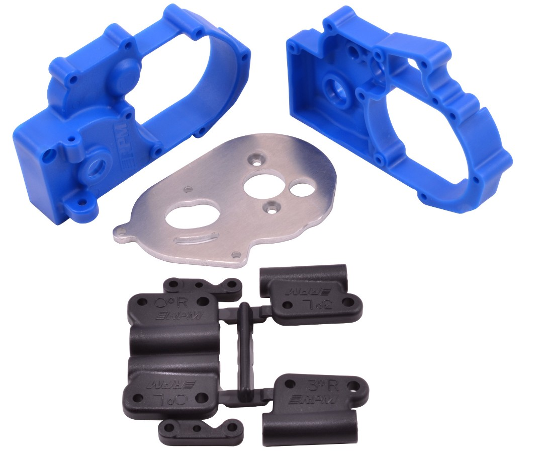 RPM Hybrid Gearbox Housing & Rear Mount Kit - Blue