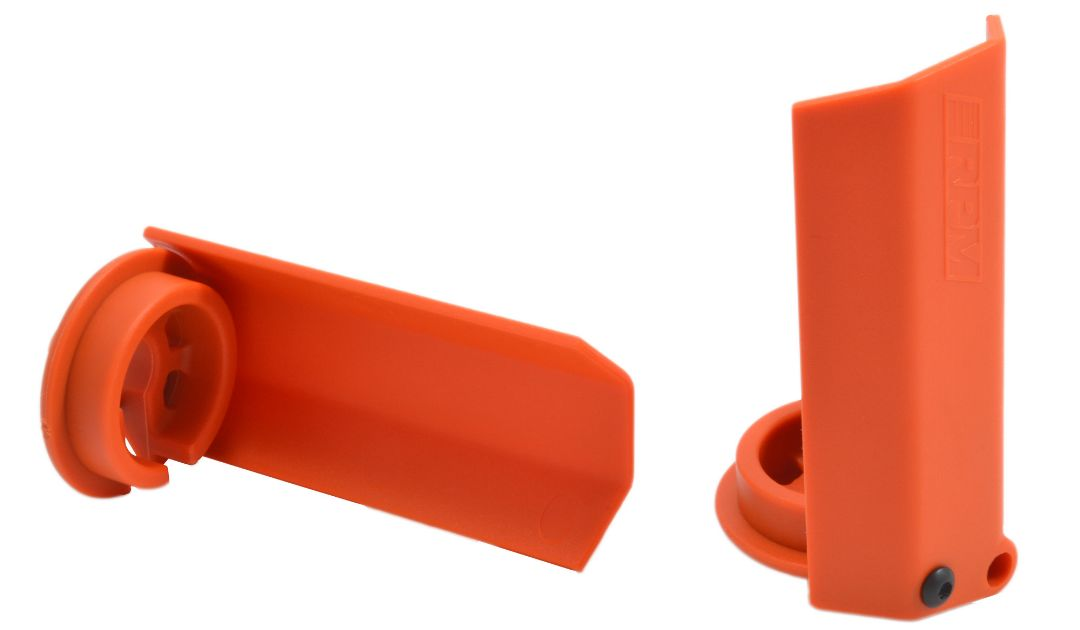 RPM Black Shock Shaft Guards for the Traxxas X-Maxx - Orange