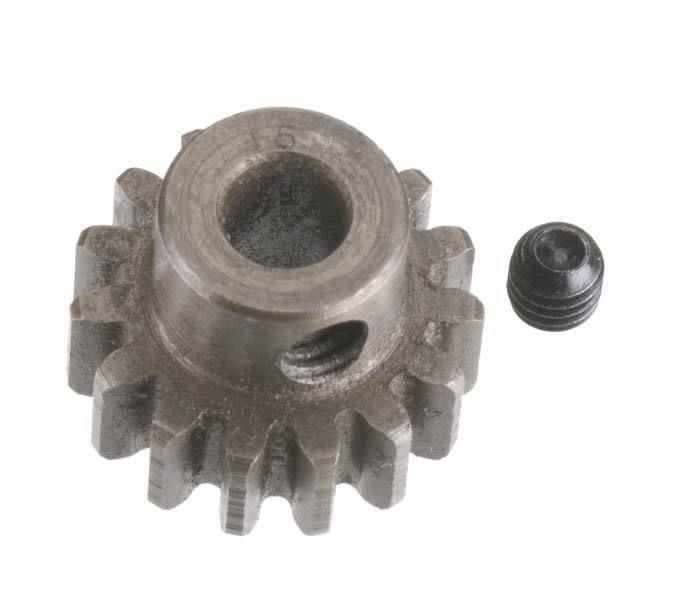 Robinson Racing Extra Hard Steel Mod1 Pinion Gear w/5mm Bore 15T