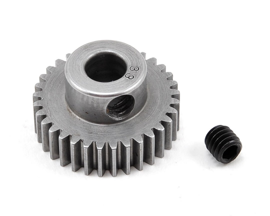 Robinson Racing Hard 48P Machined Pinion 5MM Bore (33)