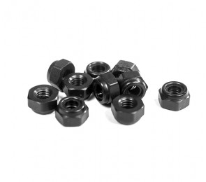 Schelle Racing M3 Metric Black Aluminum Locknut (10)