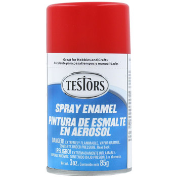 Testors Bright Red Spray 3 oz Spray (3)