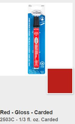 Testors Gloss Red Paint Marker Carded (1)