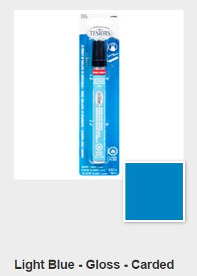 Testors Gloss Light Blue Paint Marker Carded (1)