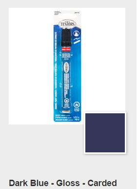 Testors Dark Blue Paint Marker Carded (1)