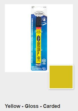 Testors Gloss Yellow Paint Marker Carded (1)