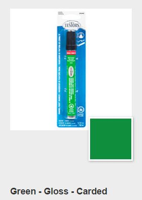 Testors Gloss Green Paint Marker Carded (1)
