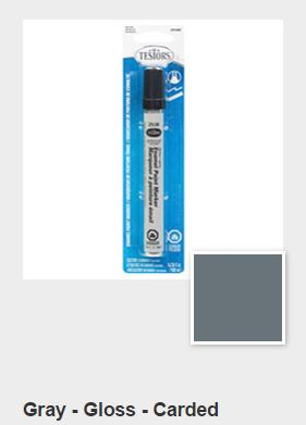 Testors Gloss Gray Paint Marker Carded (1)