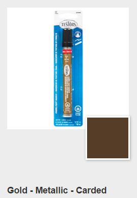 Testors Metallic Gold Paint Marker Carded (1)