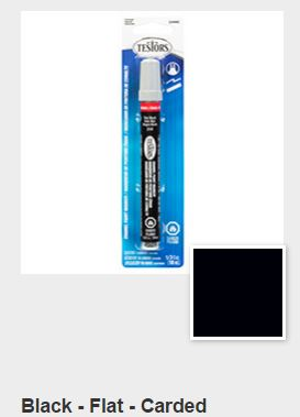 Testors Flat Black Paint Marker Carded (1)