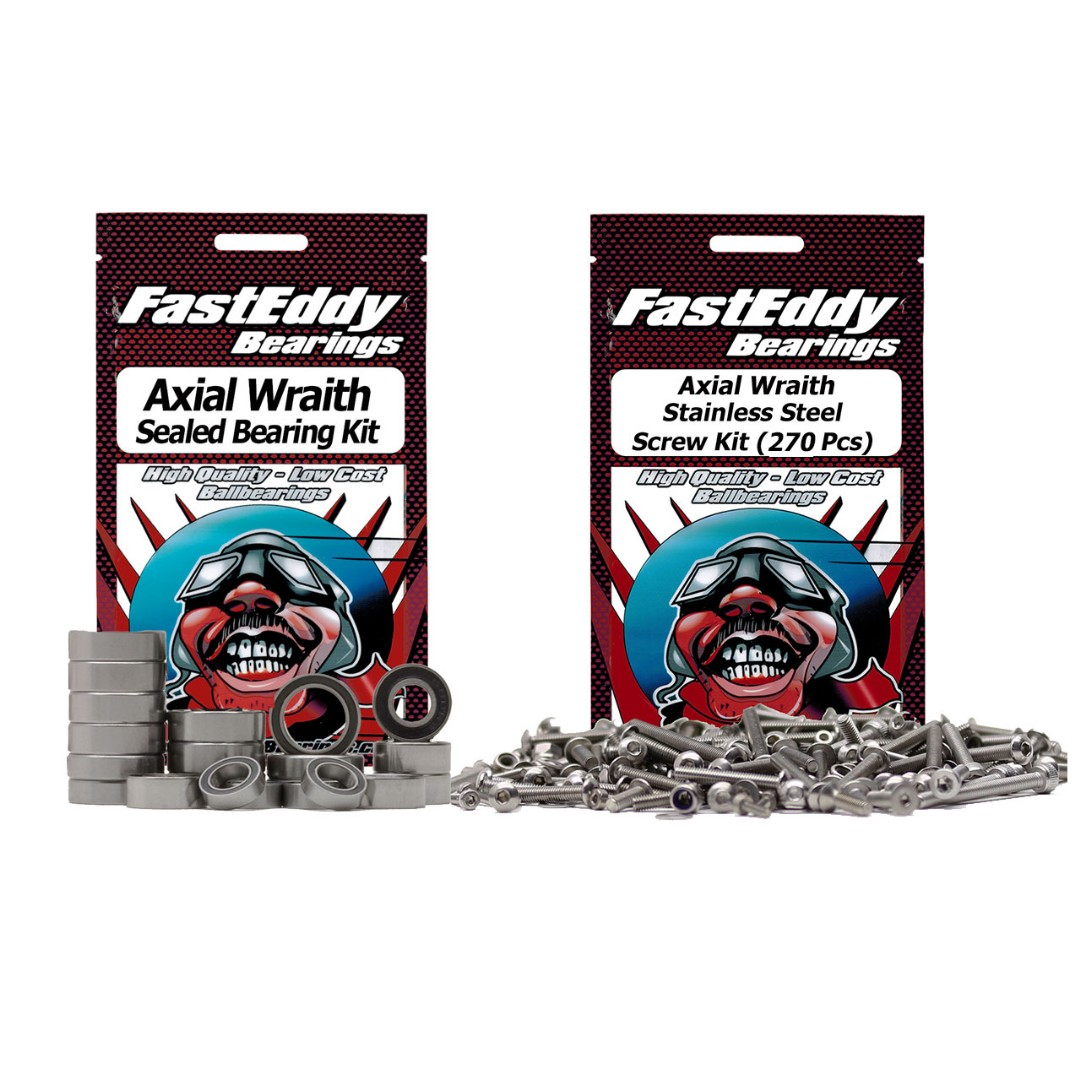 Fast Eddy Axial Wraith Bearing and Screw Kit Combo