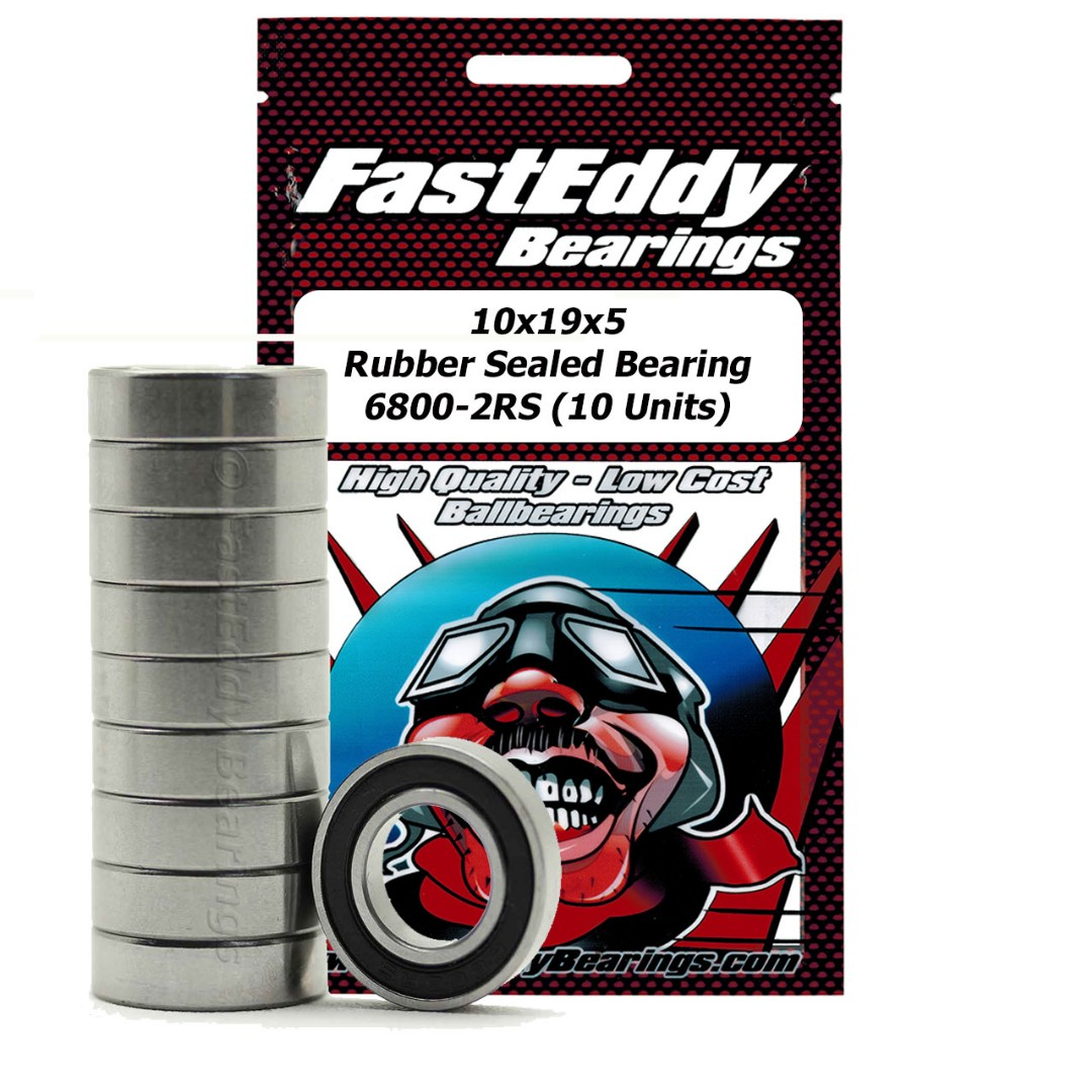 Fast Eddy Traxxas 4889 Rubber Sealed Replacement Bearing 10x19x5