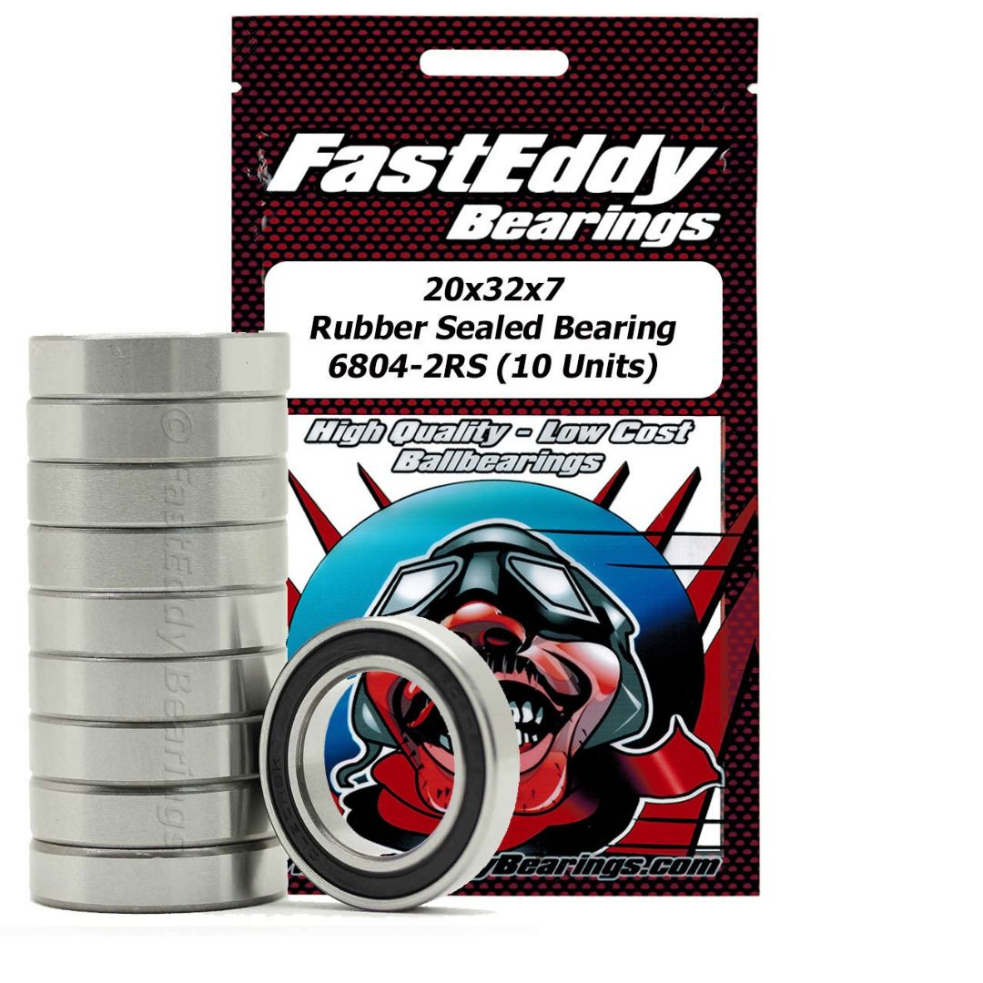 Fast Eddy 20x32x7 Rubber Sealed Bearing 6804-2RS (10)