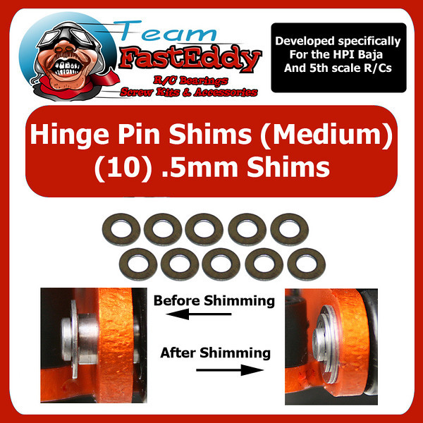 Fast Eddy Hinge Pin Shim Kit .5mm