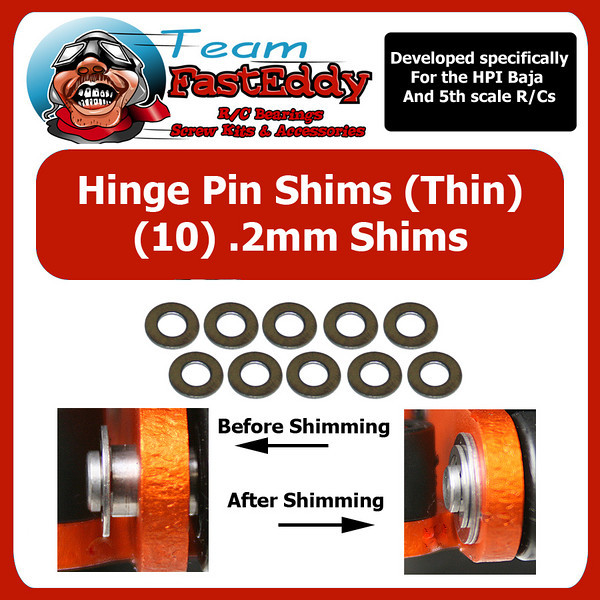 Fast Eddy Hinge Pin Shim Kit .2mm