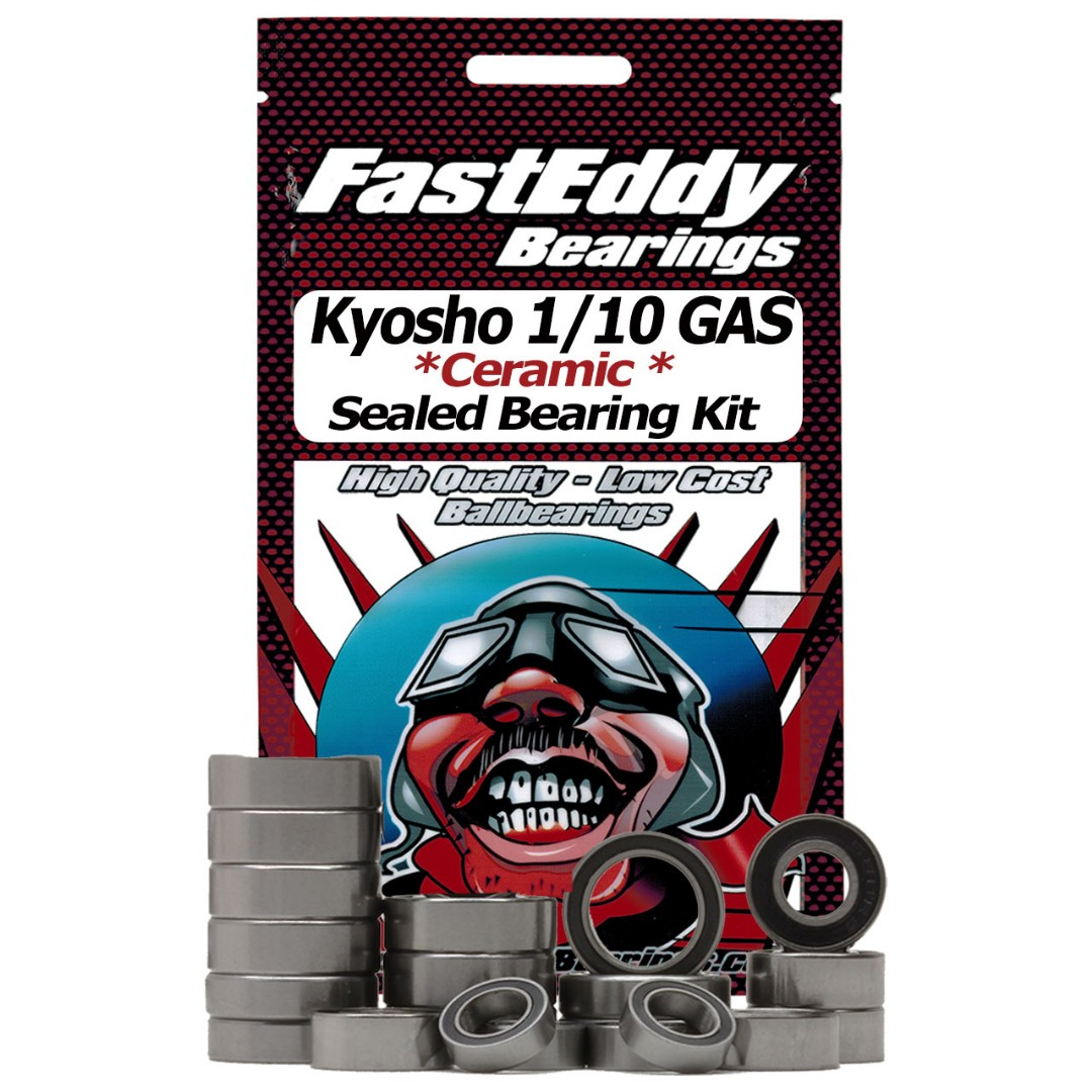 Fast Eddy Kyosho 1/10 GAS Ceramic Rubber Sealed Bearing Kit