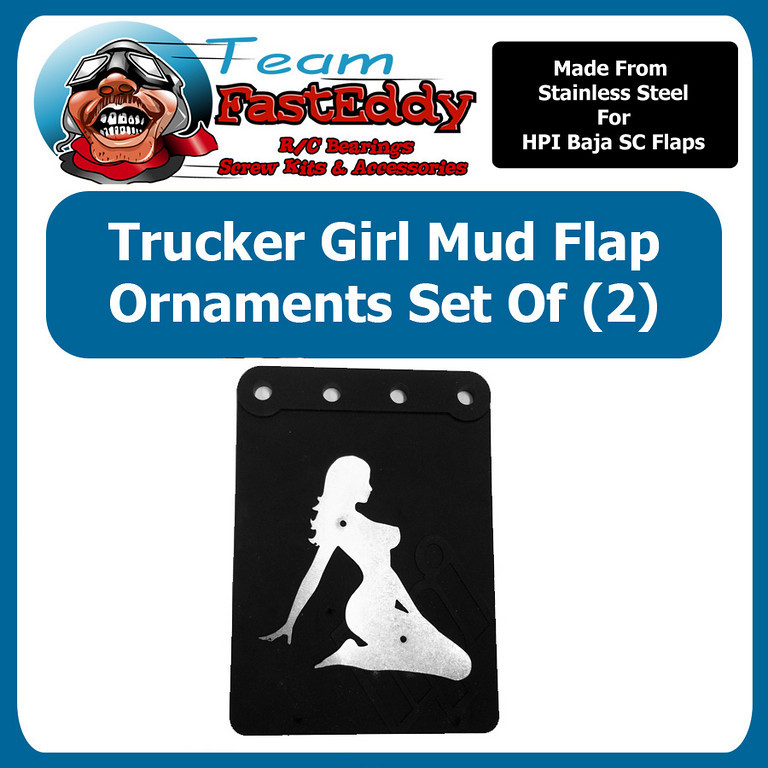 Fast Eddy Mud Flap Ornament Trucker Girl
