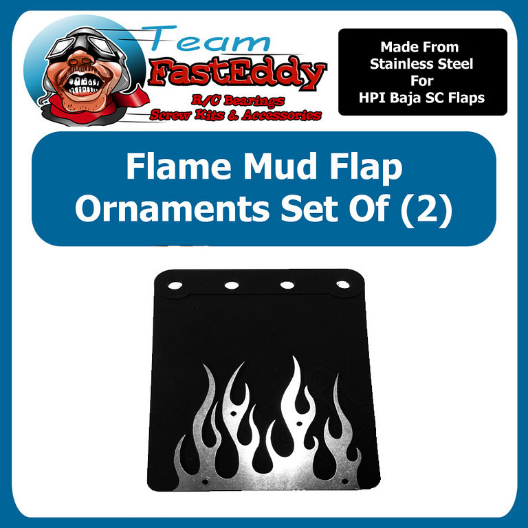 Fast Eddy Mud Flap Ornament Baja Flames