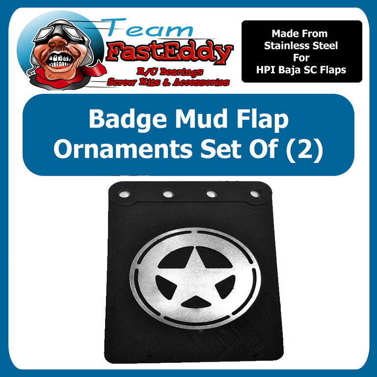 Fast Eddy Mud Flap Ornament Badge