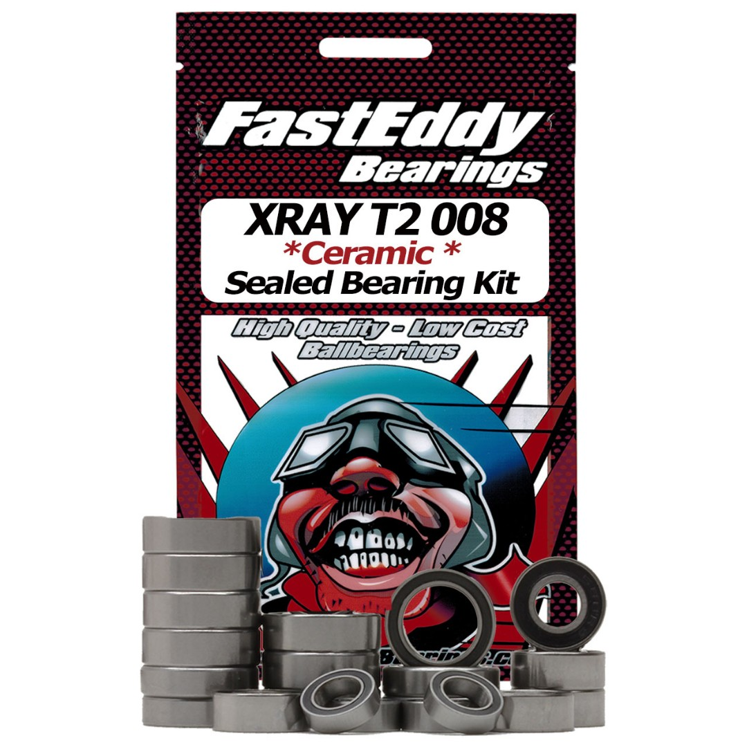 Fast Eddy XRAY T2 008 Ceramic Rubber Sealed Bearing Kit