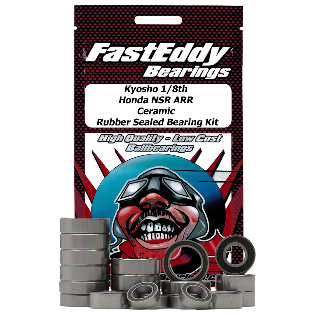 Fast Eddy Kyosho 1/8th Honda NSR ARR Ceramic Rubber Sealed Beari