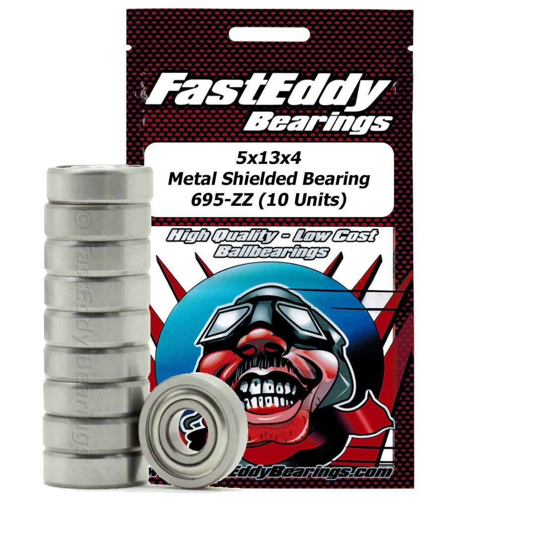 Fast Eddy 5x13x4 Metal Shielded Bearing 695-ZZ (10)
