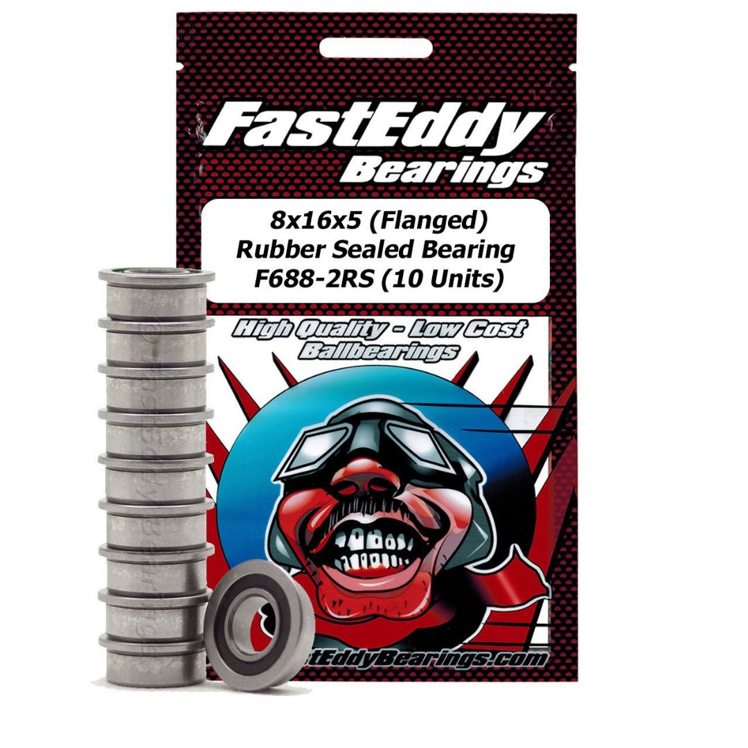 Fast Eddy 8x16x5 Flanged Rubber Sealed Bearing F688-2RS (10)