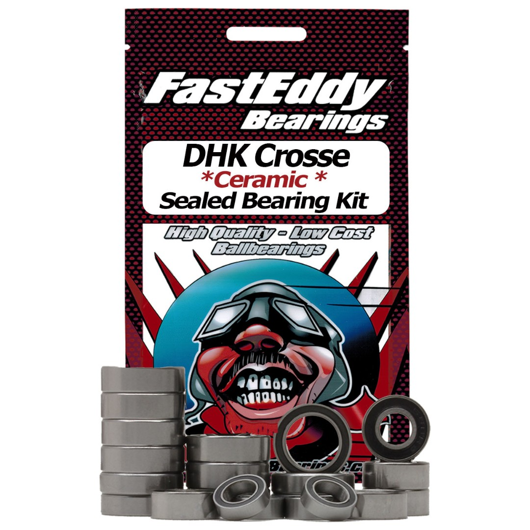 Fast Eddy DHK Crosse Ceramic Rubber Sealed Bearing Kit