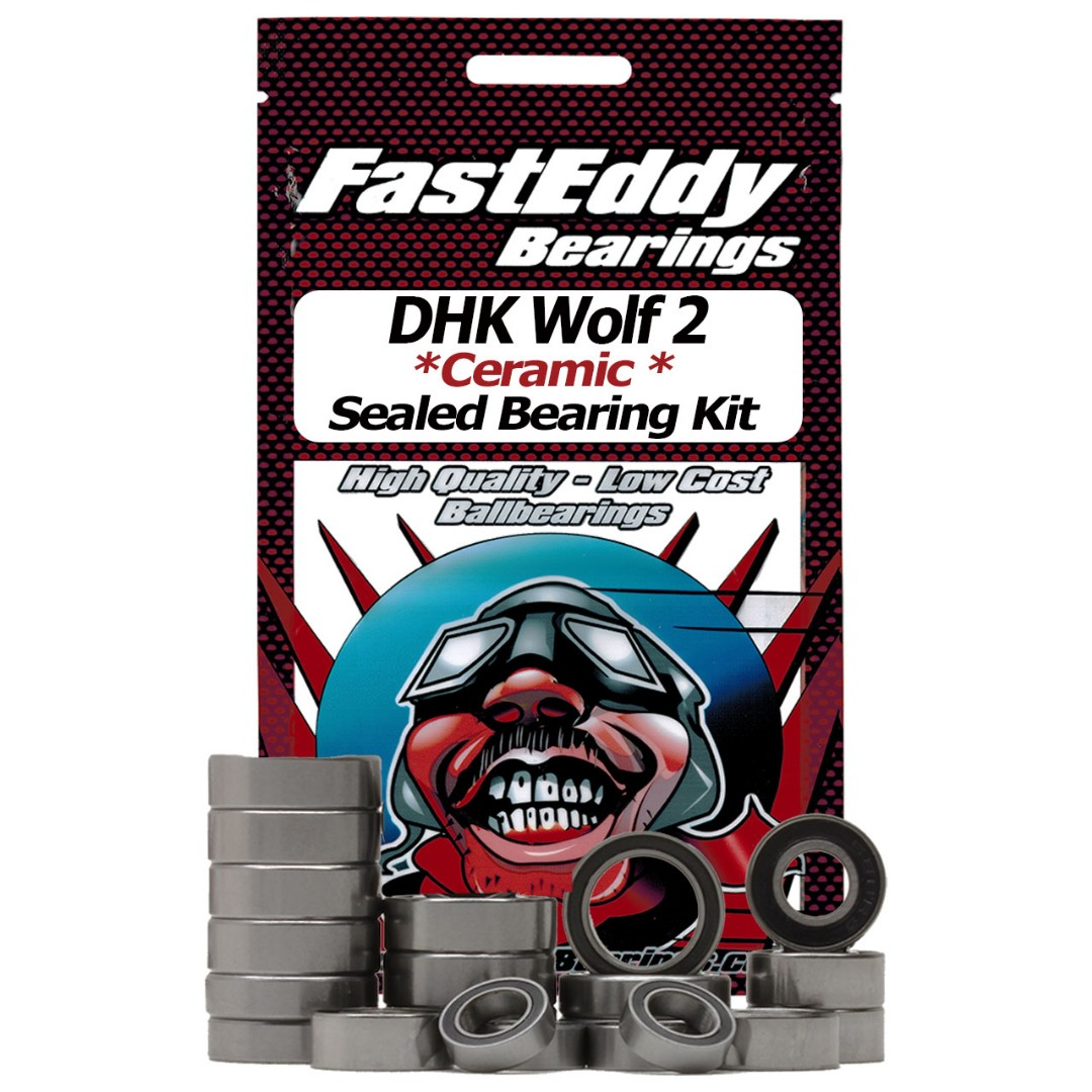 Fast Eddy DHK Wolf 2 Ceramic Rubber Sealed Bearing Kit