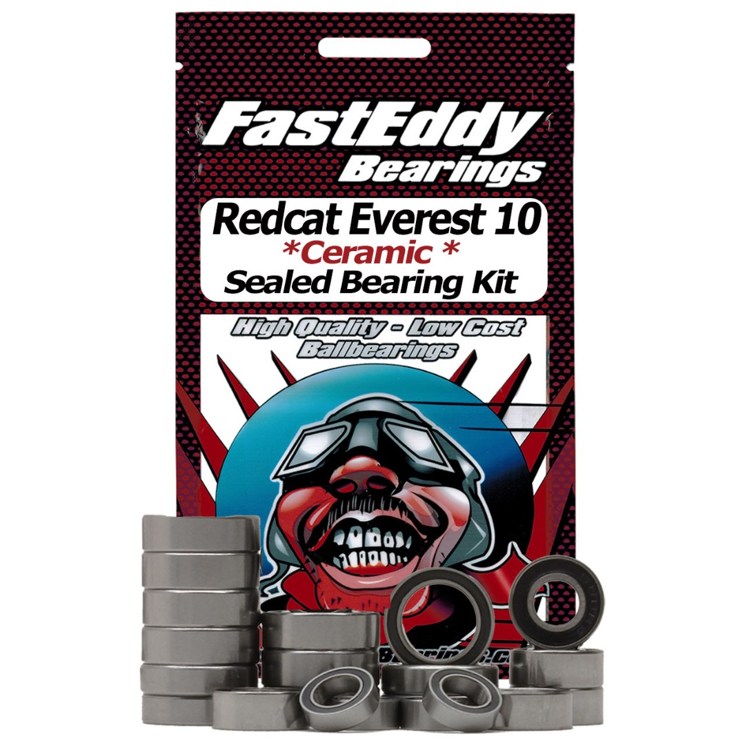 Fast Eddy Redcat Everest 10 Ceramic Rubber Sealed Bearing Kit