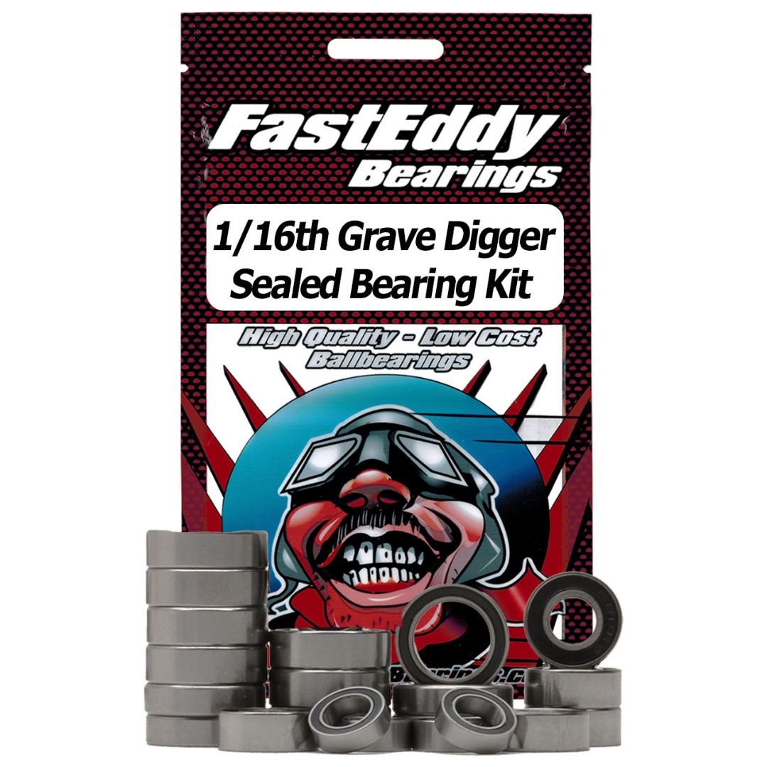 Fast Eddy Traxxas 1/16th Grave Digger Sealed Bearing Kit
