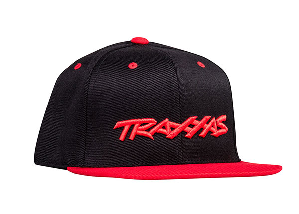 Traxxas Snap Hat Flat Bill Black/Red