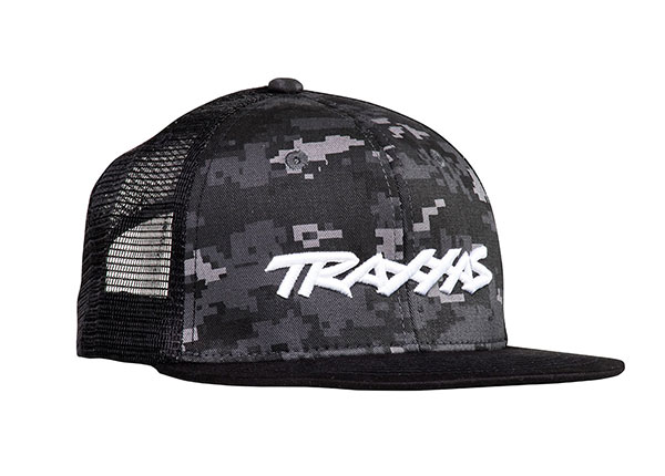 Traxxas Logo Hat Flat Bill Black