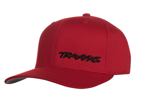 Traxxas Flex Hat Curve Bill Red/Black Small