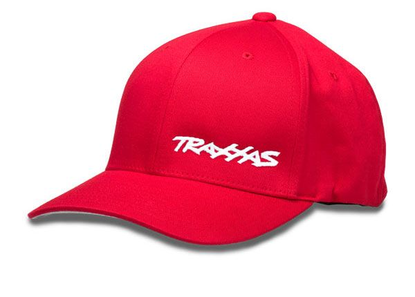 Traxxas Large/Extra Large Flex Hat - Red w/ White Logo