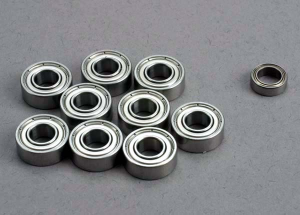 Traxxas Ball bearing set: 5x11x4mm (9)/ 5x8x2.5mm (1)