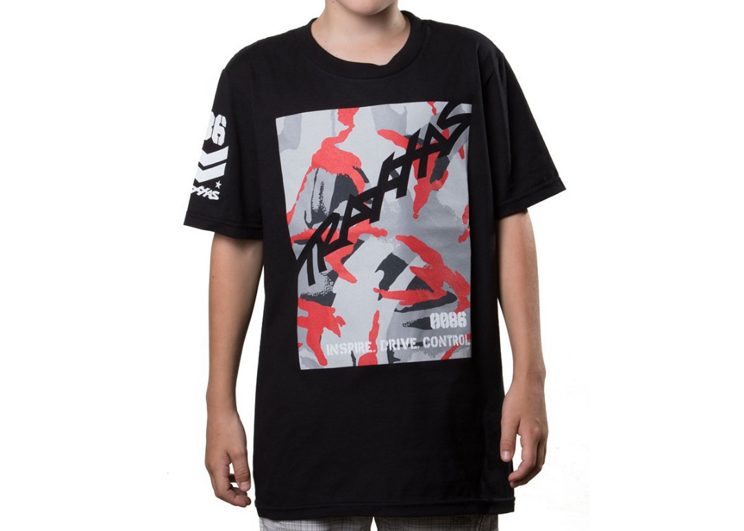 Traxxas Military Tee Black Youth Small