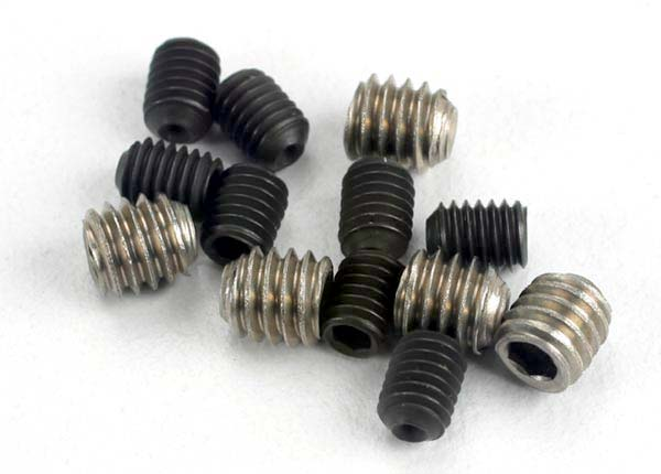 Traxxas Set (grub) screws, 3x4mm (8)/ 4x4mm (stainless) (4)