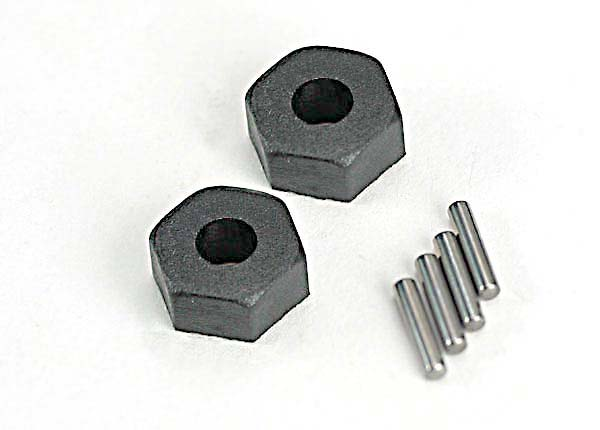 Traxxas Wheel hubs, hex (2)/ stub axle pins (2)