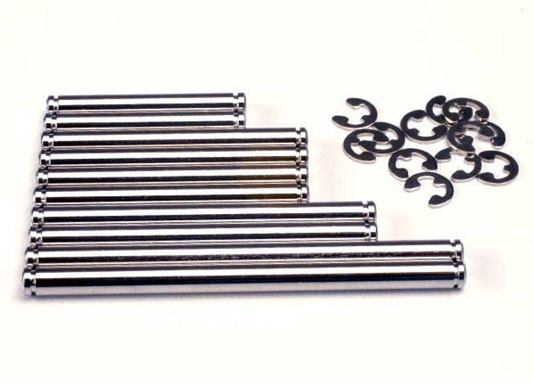 Traxxas Suspension Pins, Chrome with E-Clips