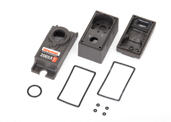 Traxxas Servo case/gaskets (for 2065X metal gear, waterproof, su