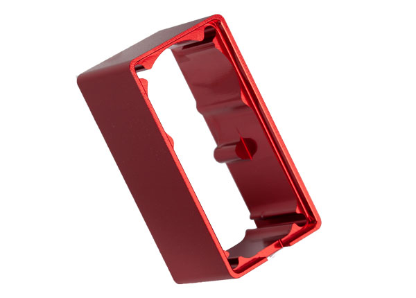 Traxxas Servo case, aluminum (red-anodized) (middle) (for 2255 s