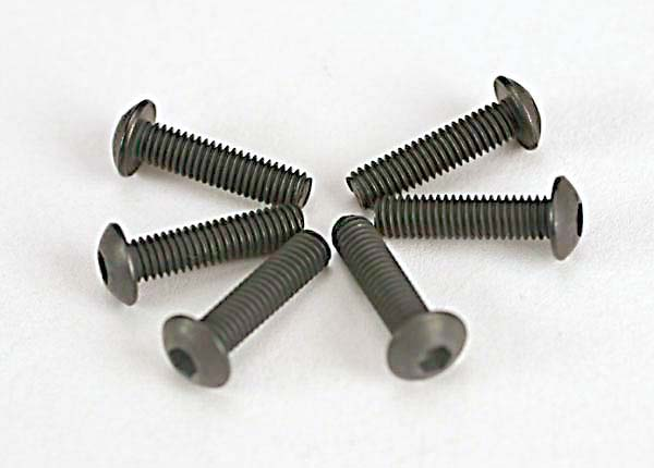 Traxxas 3x12mm Button Head Screws (Hex Drive) (6)