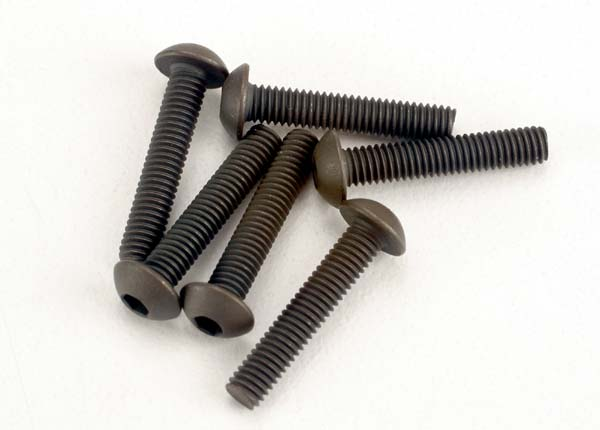 Traxxas 3x15mm Button Head Screws (Hex Drive)(6)
