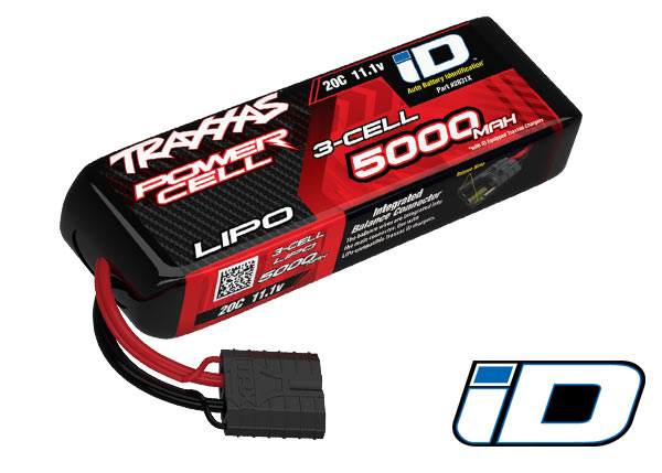 Traxxas 5000mAh 3S 11.1V 20C LiPo ID Connector Soft Case