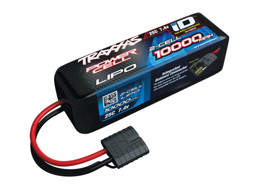Traxxas 10000mAh 2S 7.4V 25C LiPo ID Connector Soft Case