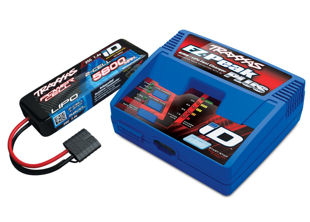 Traxxas EZ-Peak Multi-Chemistry Charger with 5800mAh 2S Battery